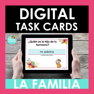 La familia digital task cards - boom cards