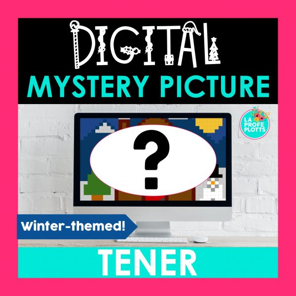 winter tener digital mystery picture, pixel art