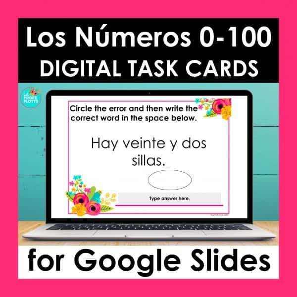 Spanish numbers 0-100 Google Slides