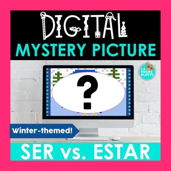 ser vs estar digital mystery picture, pixel art