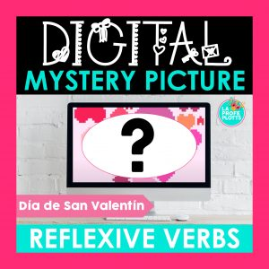 reflexive verbs digital mystery picture cover image