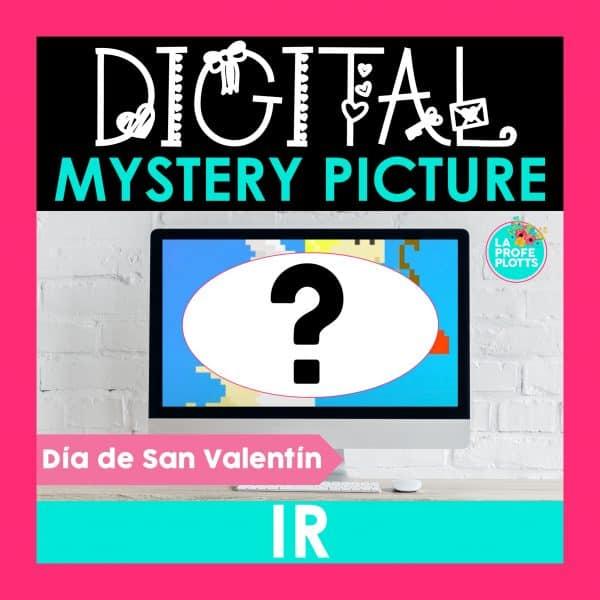 IR digital mystery picture, pixel art
